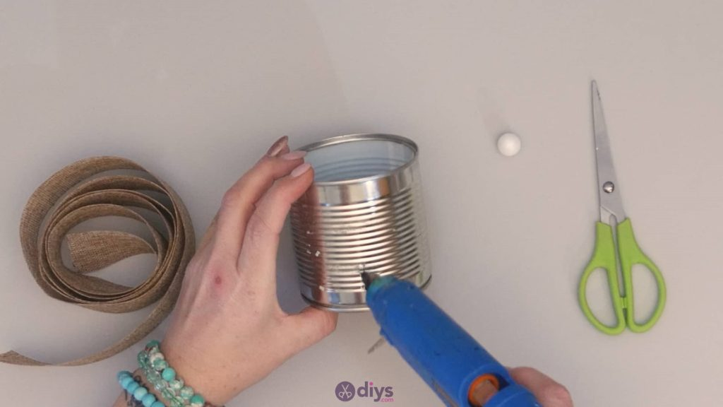 Diy rustic tin can container tins