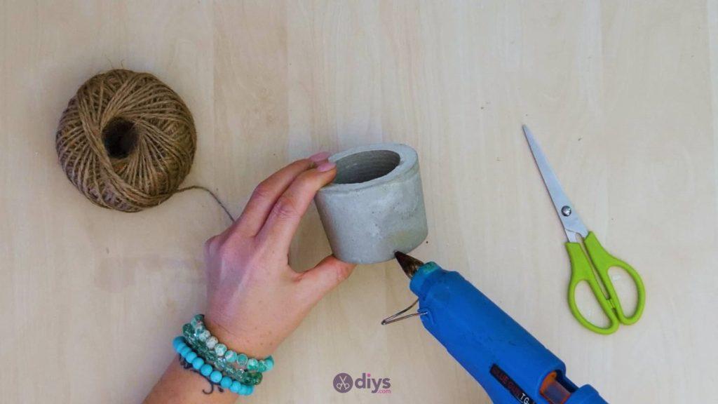 Diy small concrete planter step a