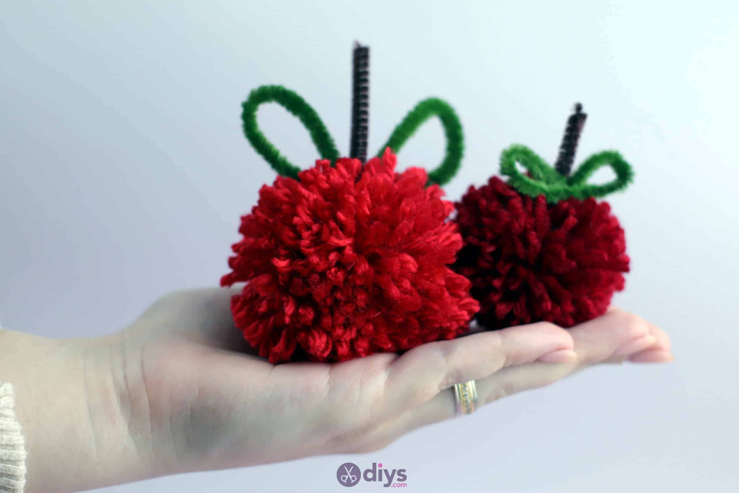 Diy pompom apple pie cute