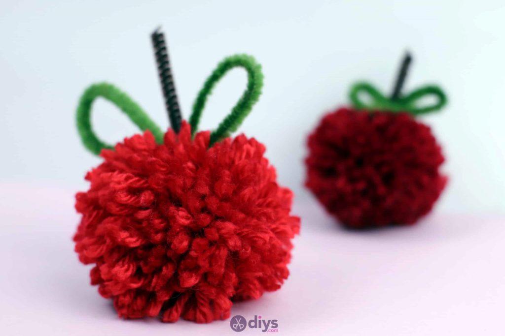 DIY Lovely Pom Pom Apple