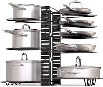 Geekdigg pot rack organizer