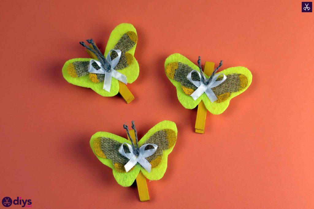 چگونه یک پروانه را از یک پروژه ساده رنگارنگ گیره لباس درست کنیم