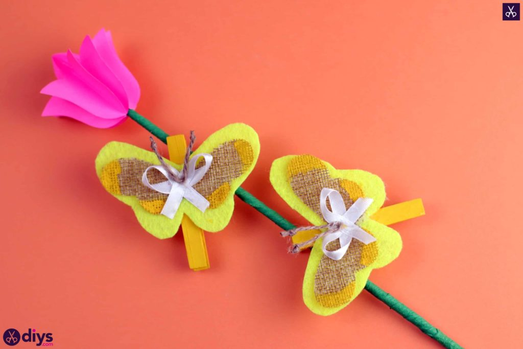 How to craft a butterfly from a clothespin sm