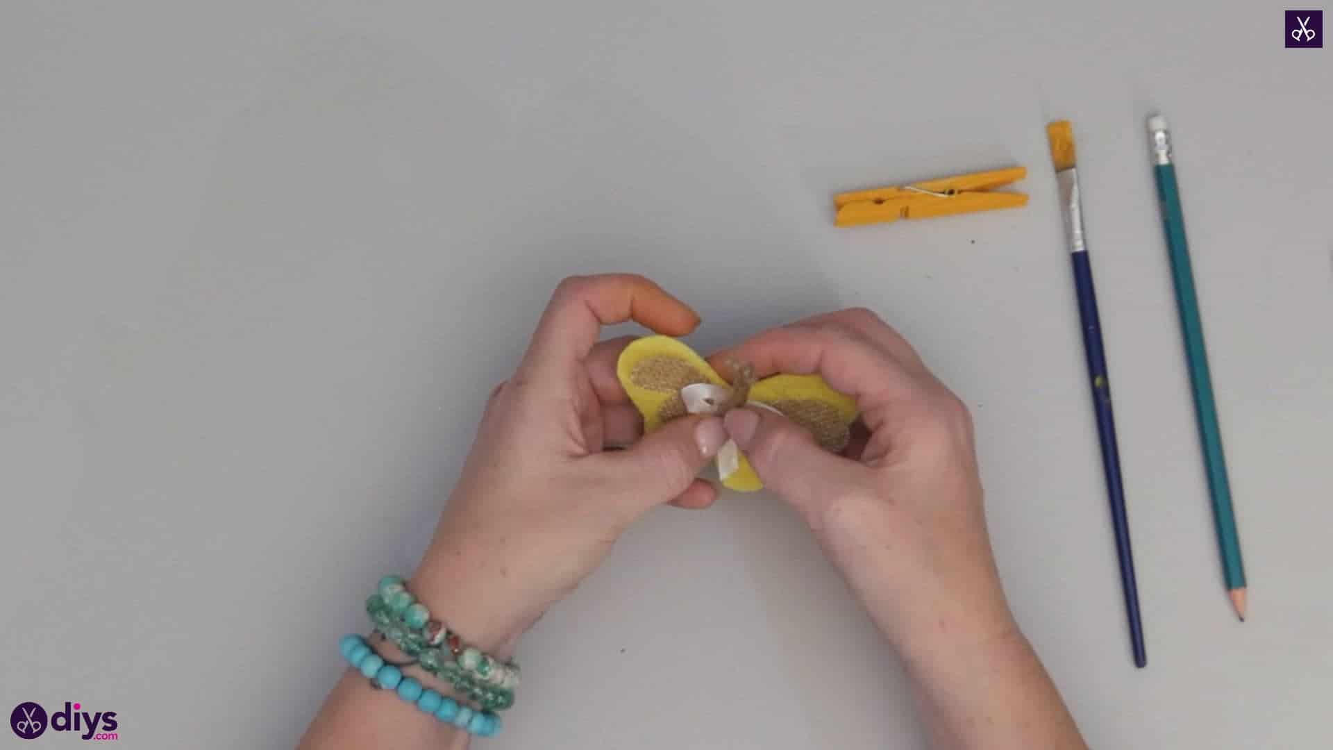 How to craft a butterfly from a clothespin step 8