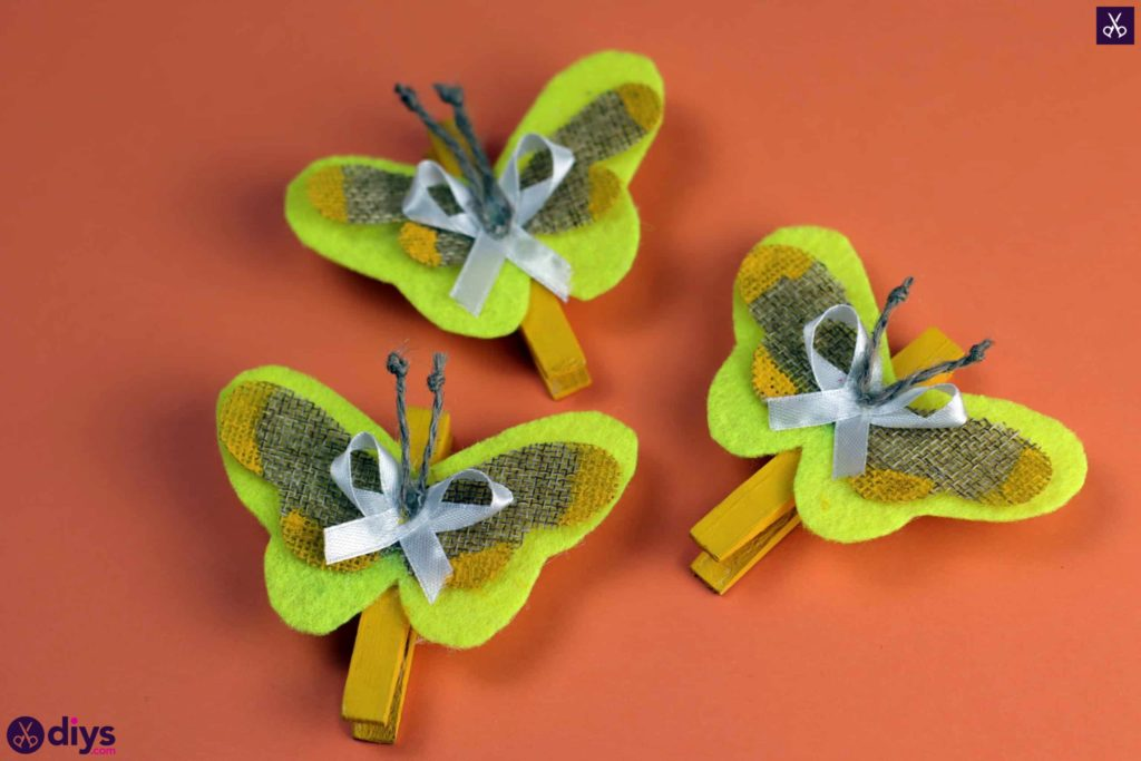 How to craft a butterfly from a clothespin step projct