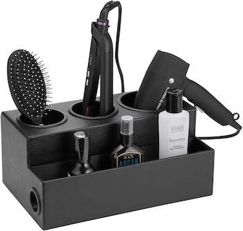 Jack cube design hair dryer holder and product organizer in black