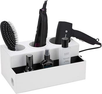 Jack cube design hair dryer holder and product organizer