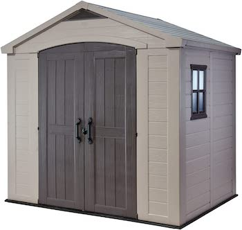 Keter factor large resin outdoor shed