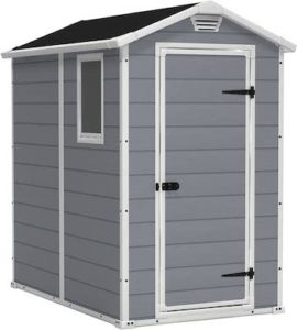 Keter Manor 4×6 resin outdoor shed kit