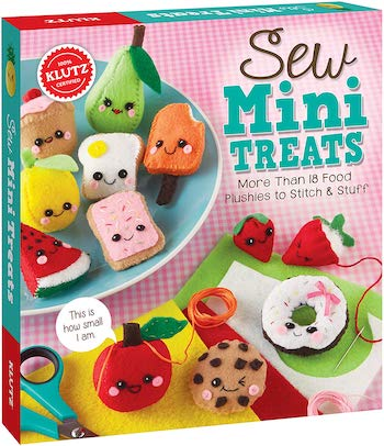 Klutz sew mini treats plushie sewing kit