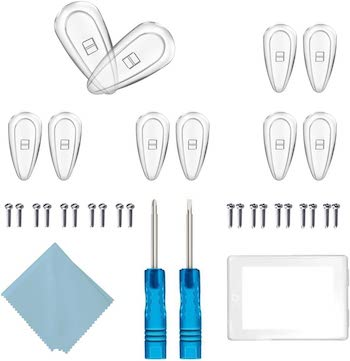 Lifengxu clear silicone nose pads and full repair kit