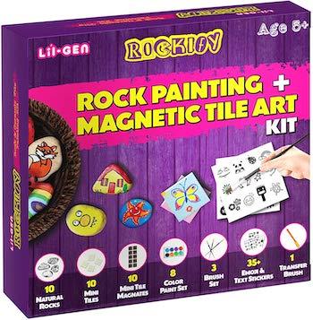 Li:l gen magnetix tile and rock painting kit