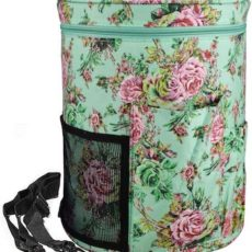 Looen large, lightweight floral knitting tote