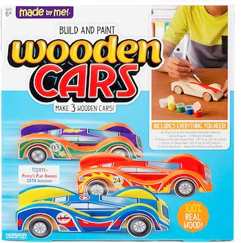 Made by me paint your own wooden cars