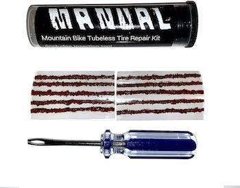 Manual mountain bike tubeless tire repair kit