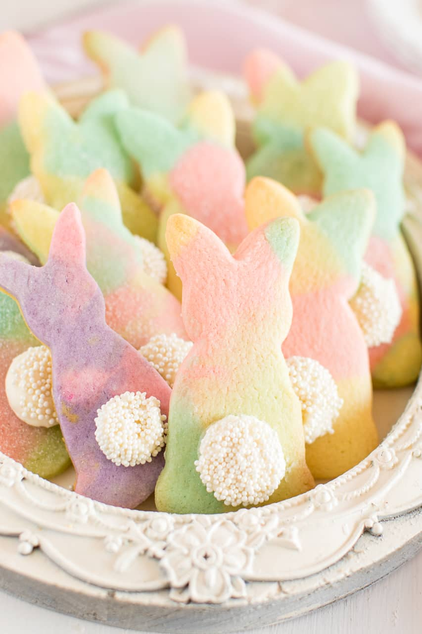 Marbled easter bunny cookies