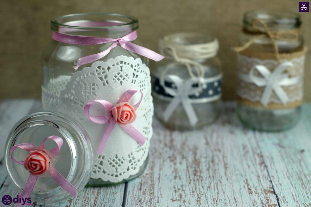 Mason jar centrepiece for weddings
