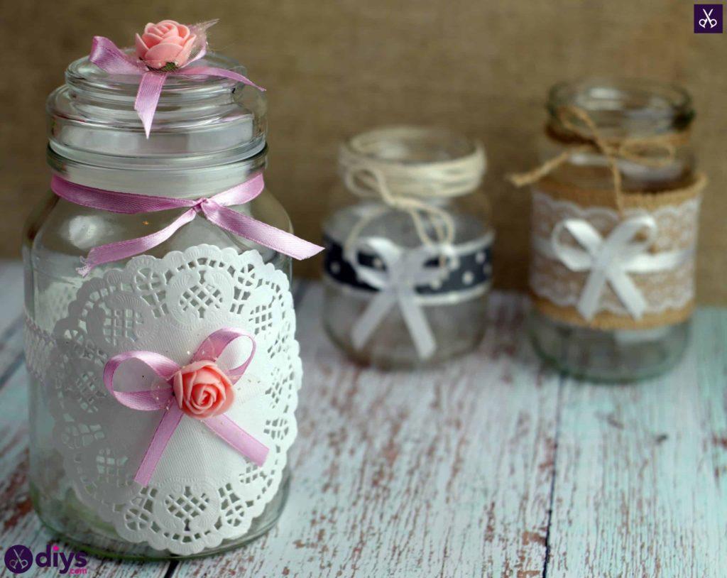 Mason jar centrepiece for weddings rustic