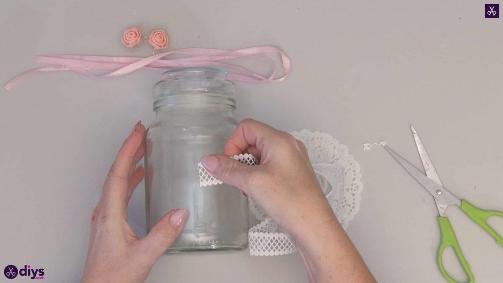 Mason jar centrepiece for weddings step2a
