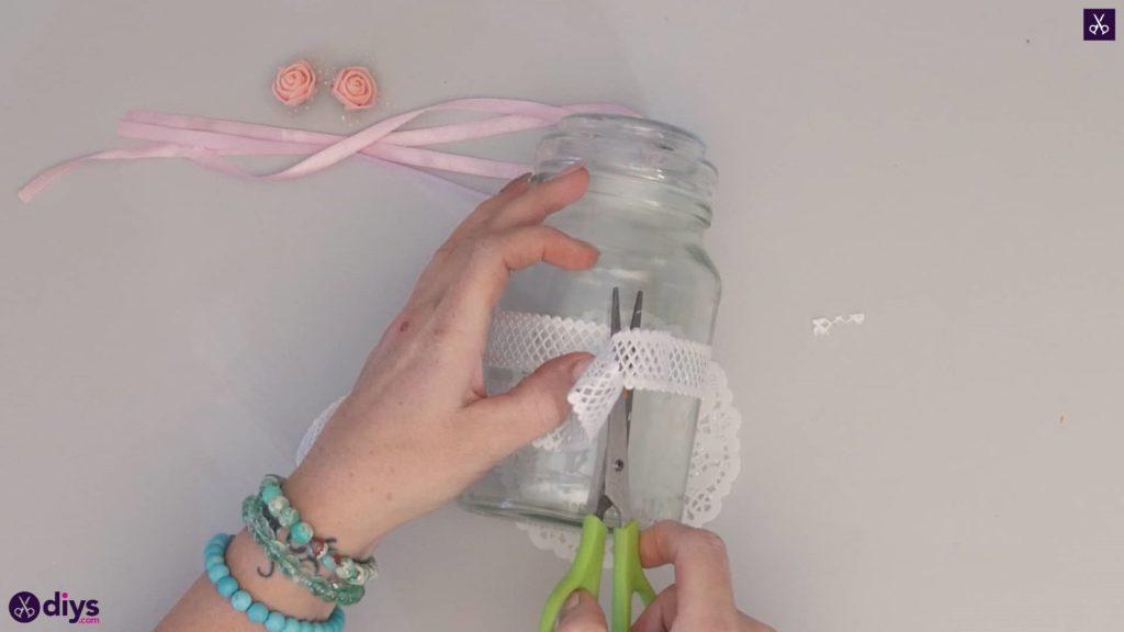 Mason jar centrepiece for weddings step2b