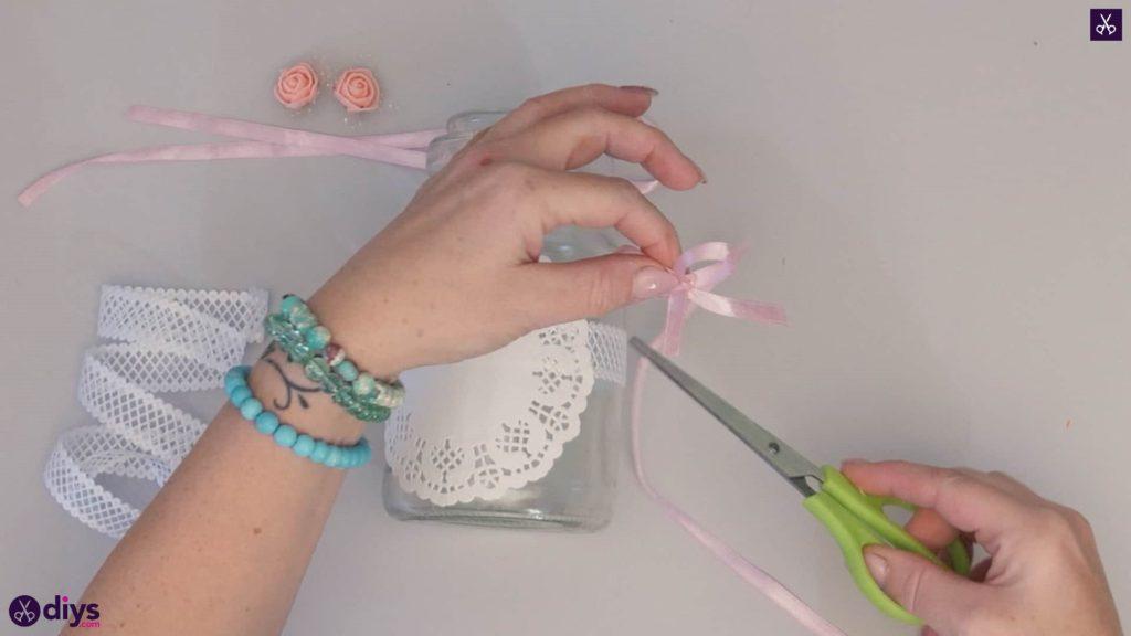 Mason jar centrepiece for weddings step4b