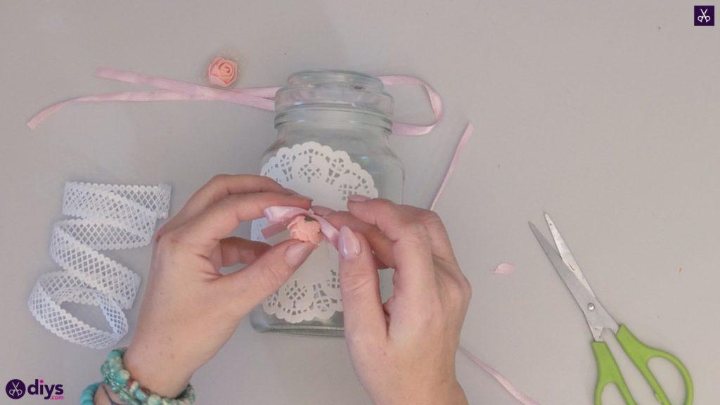 Mason jar centrepiece for weddings step4d