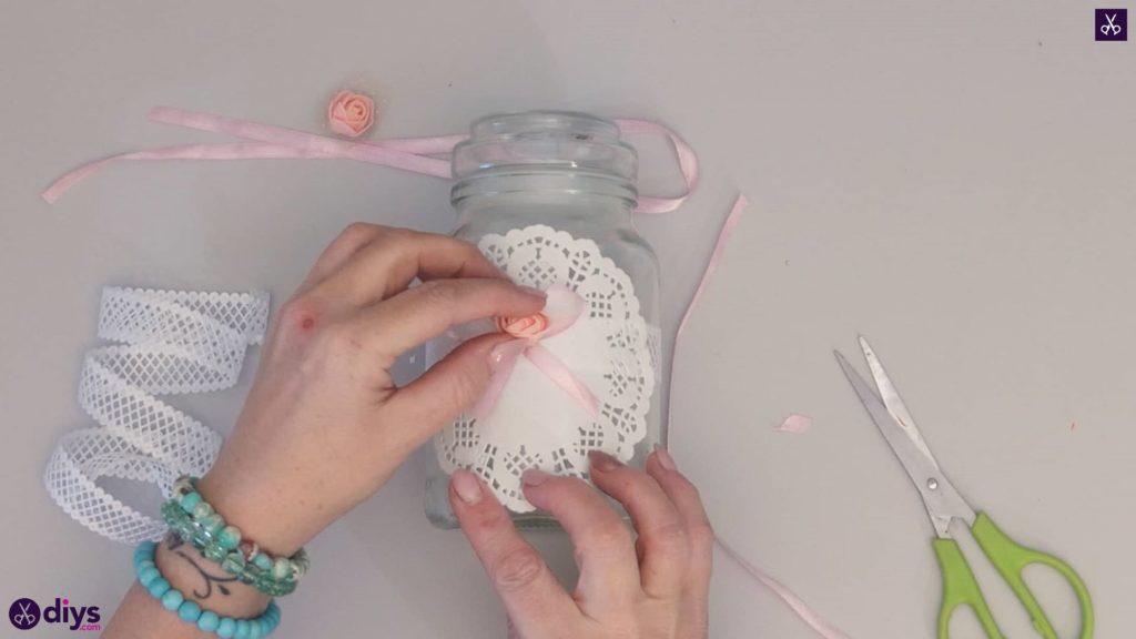 Mason jar centrepiece for weddings step4e
