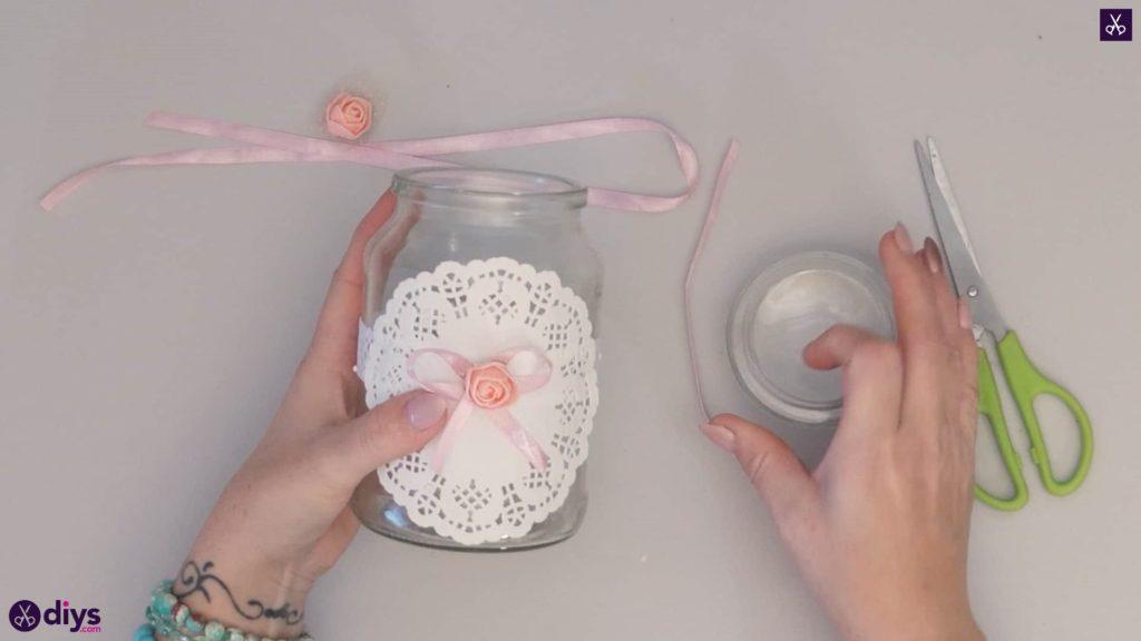 Mason jar centrepiece for weddings step4f