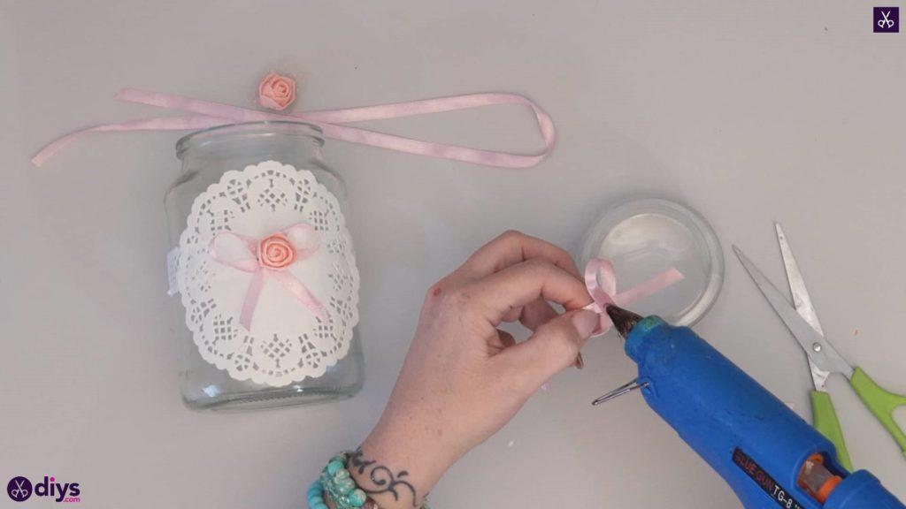 Mason jar centrepiece for weddings step5a