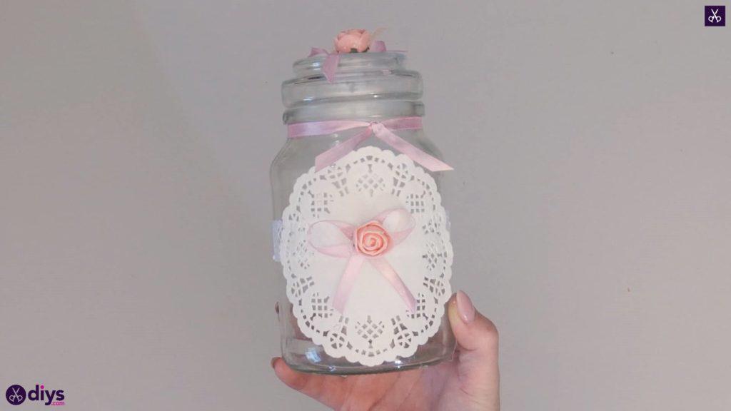 Mason jar centrepiece for weddings step67