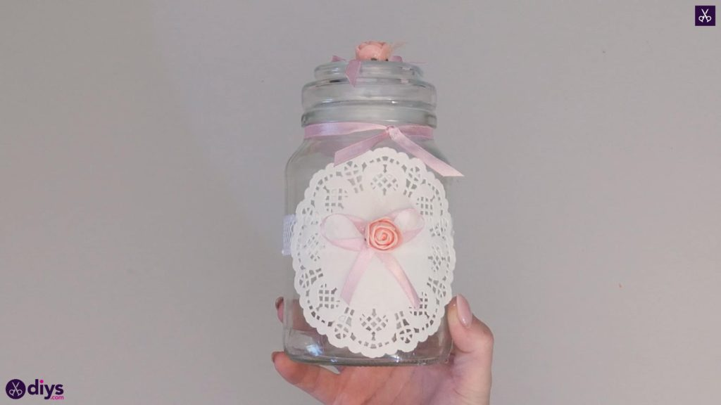 Mason jar centrepiece for weddings step6c