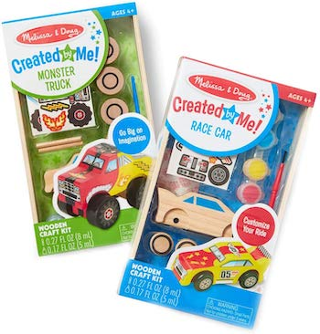 Melissa & doug decorate her own wooden car set
