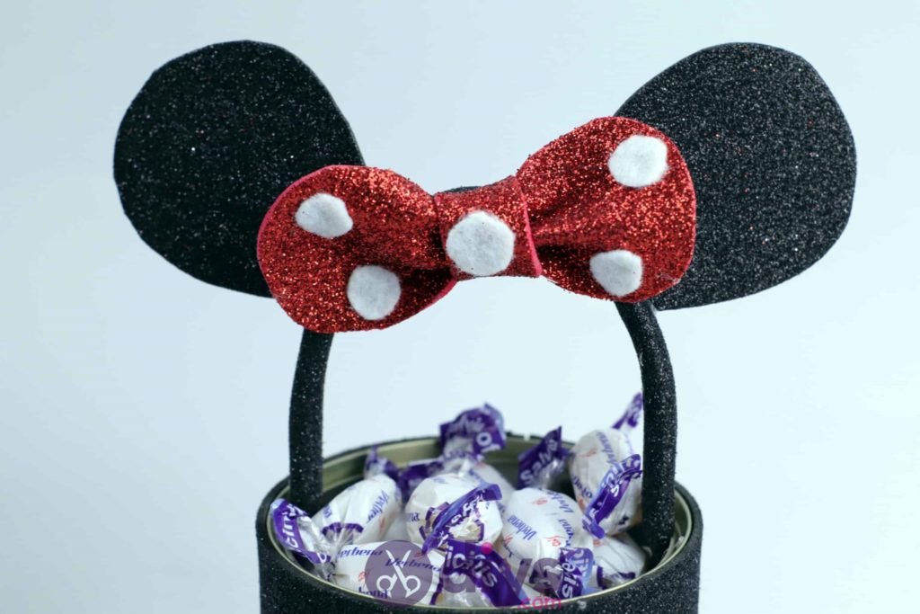 Minnie mouse tin can container craft