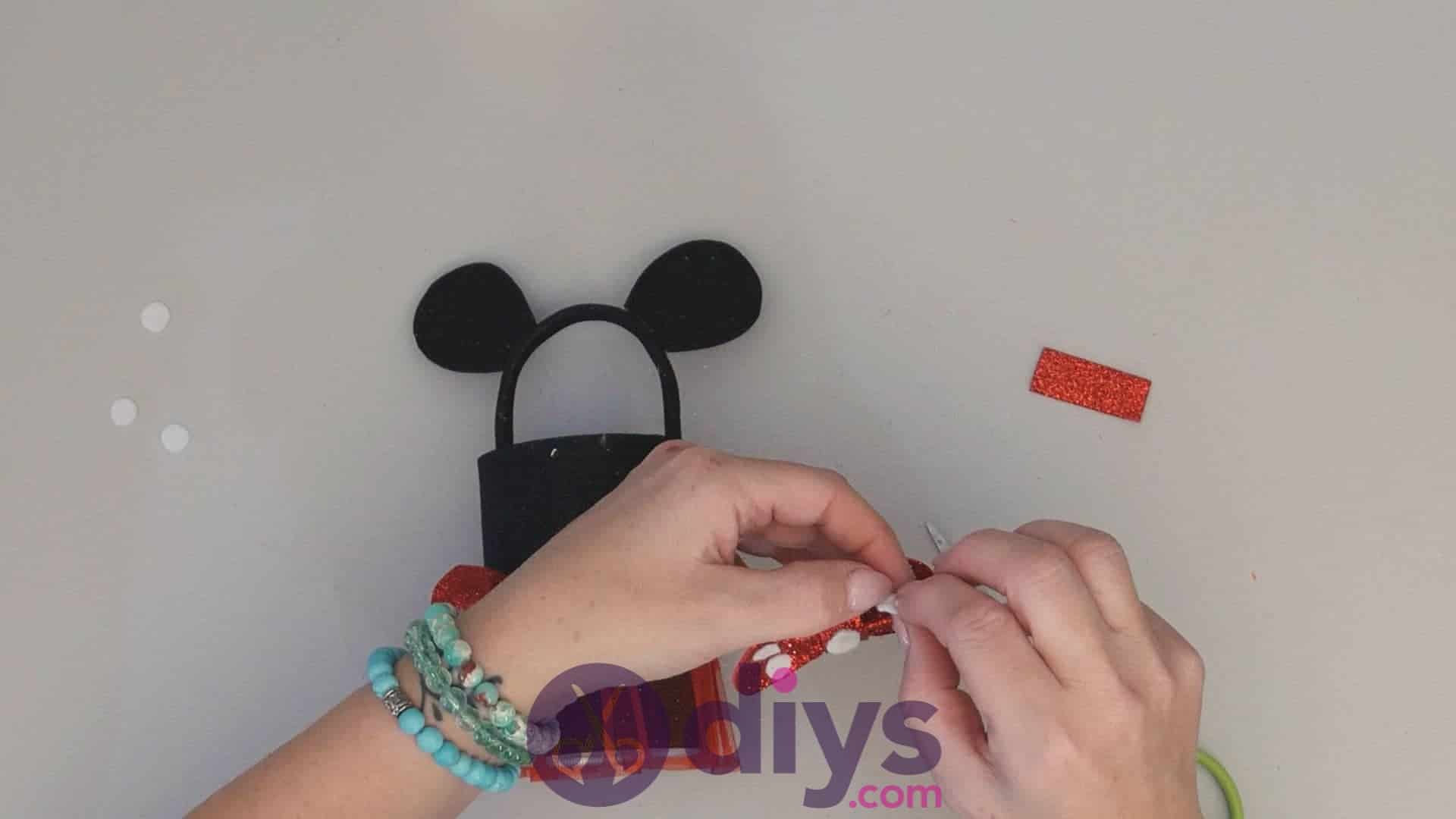 Minnie mouse tin can container step 14ab