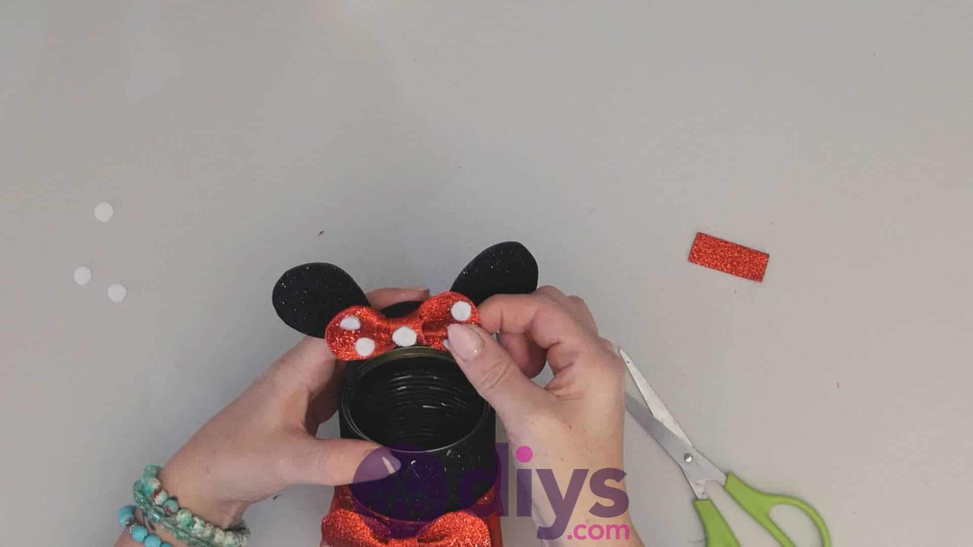 Minnie mouse tin can container step 14ad