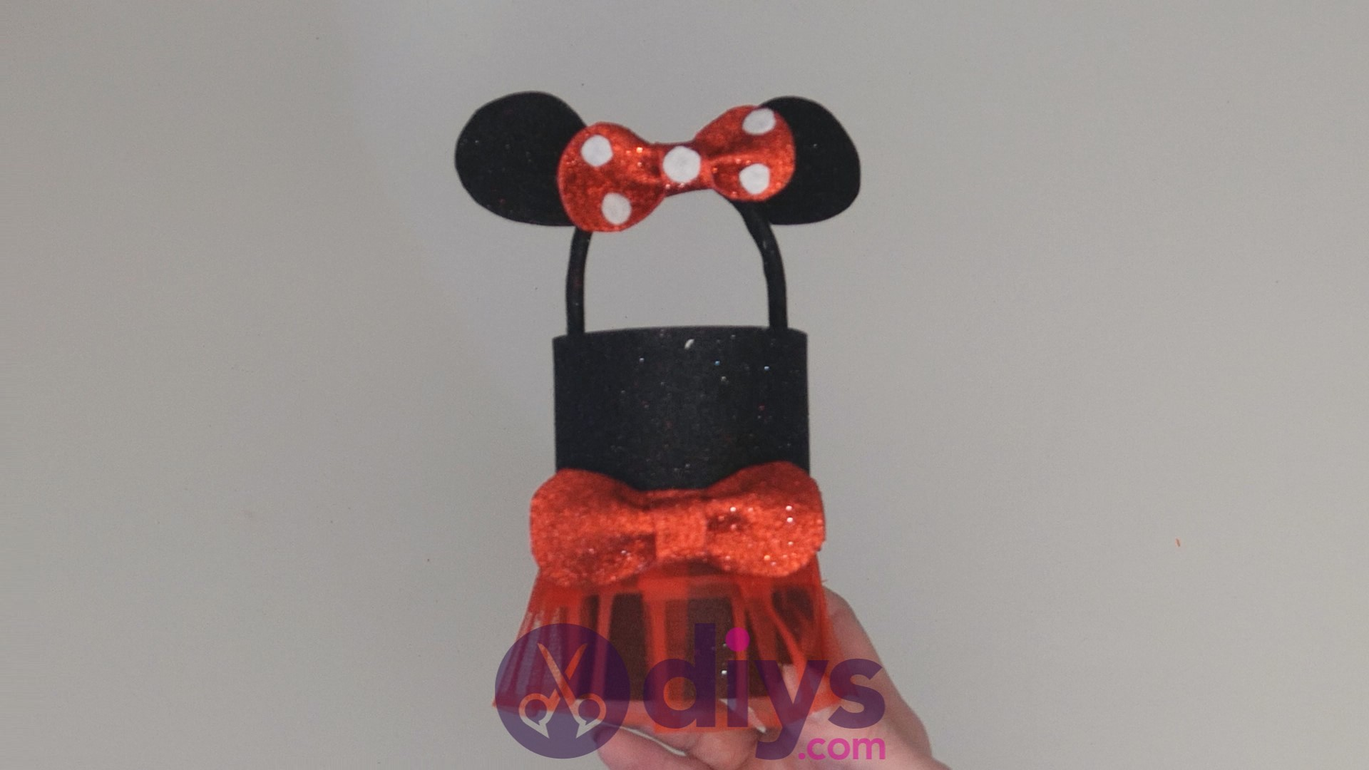 Minnie mouse tin can container step 14ae