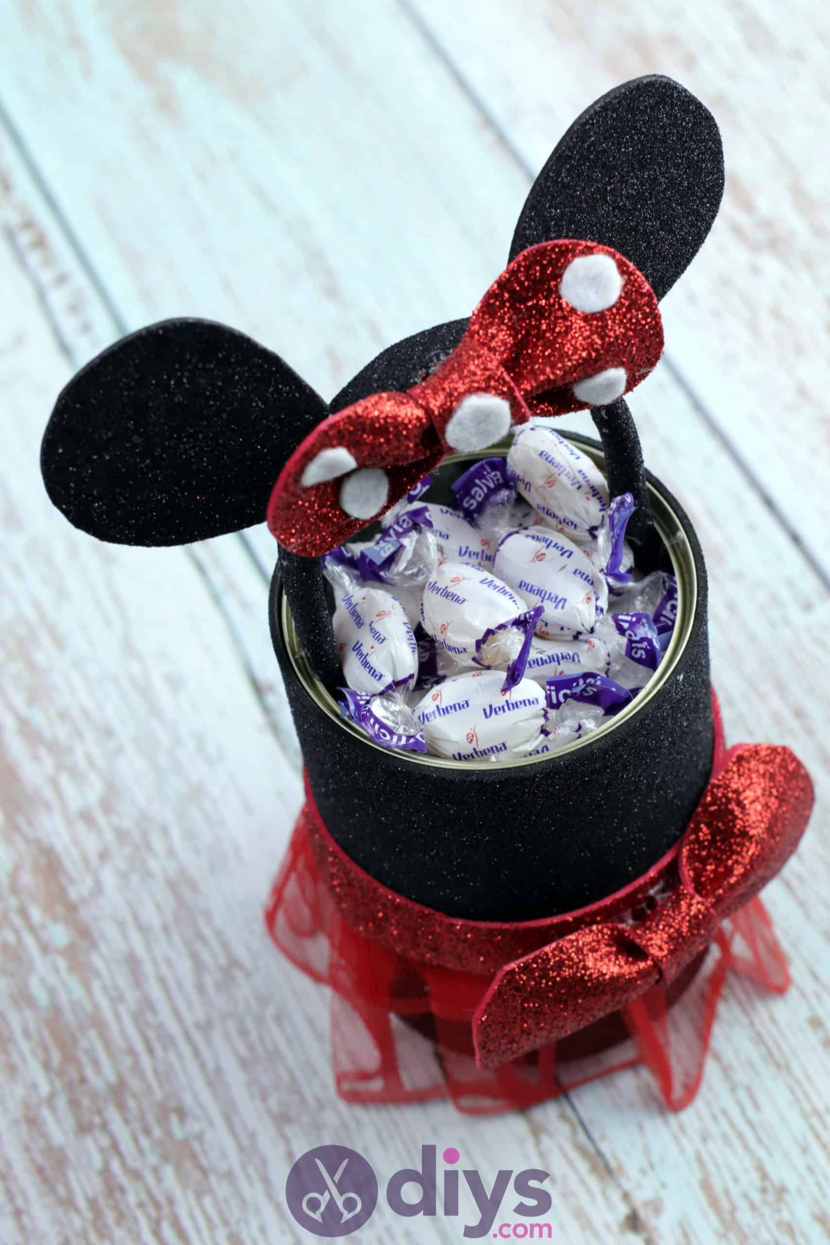 Minnie mouse tin can container top