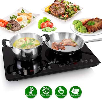 Nuritop double induction portable cooktop