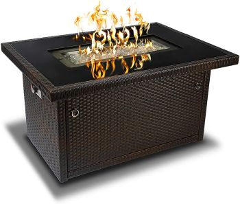 Outland living series 401 brown 44 inch outdoor propane gas fire pit table