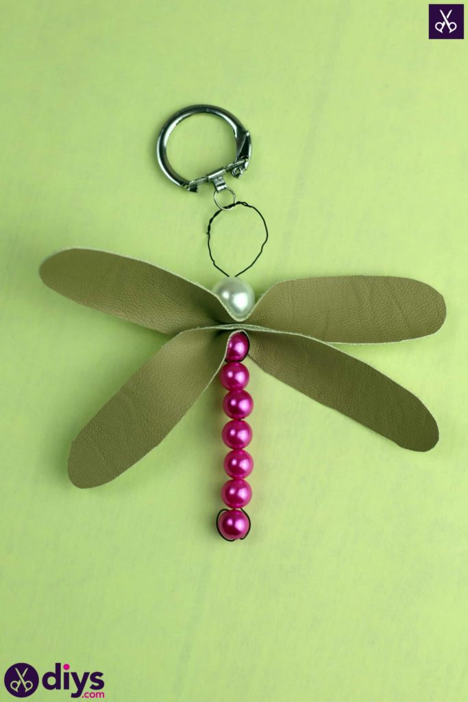 Pearl dragonfly keychain project