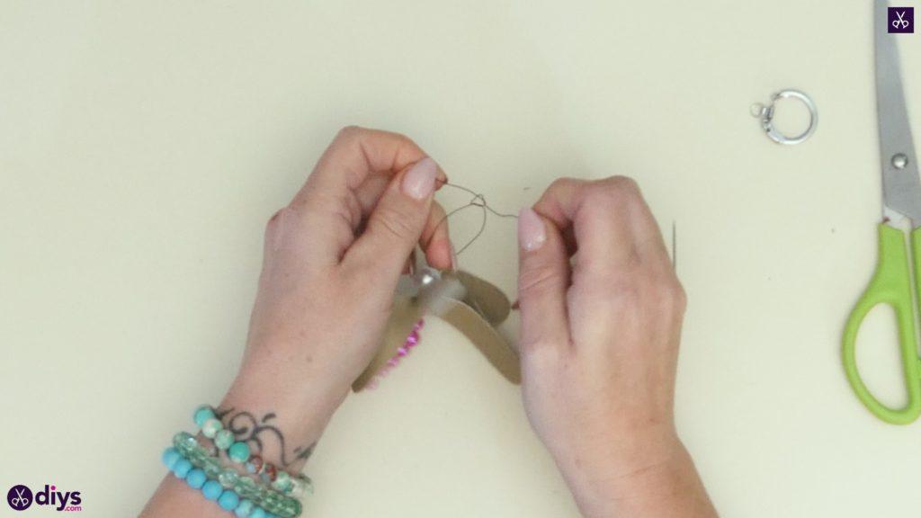 Pearl dragonfly keychain step 5a