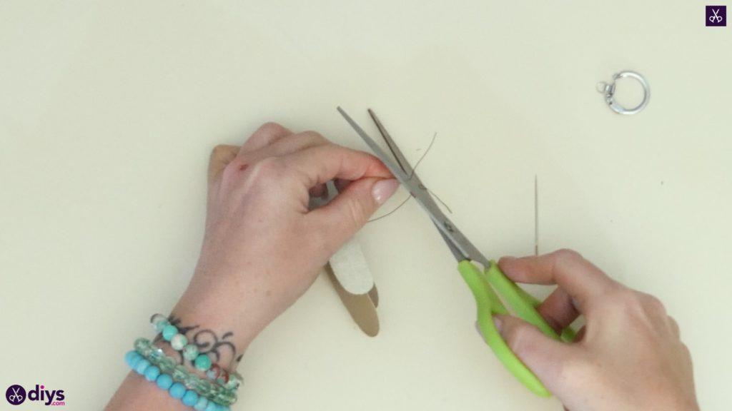 Pearl dragonfly keychain step 5b