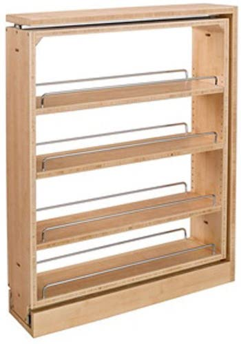 Rev a shelf wooden pullout spice rack