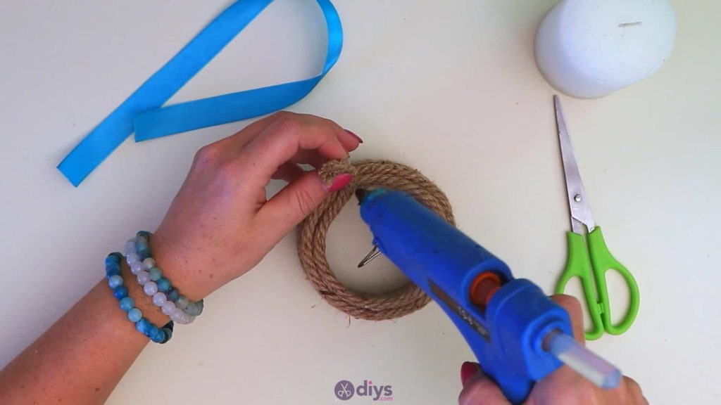 Rope wrapped candle holder step 3o