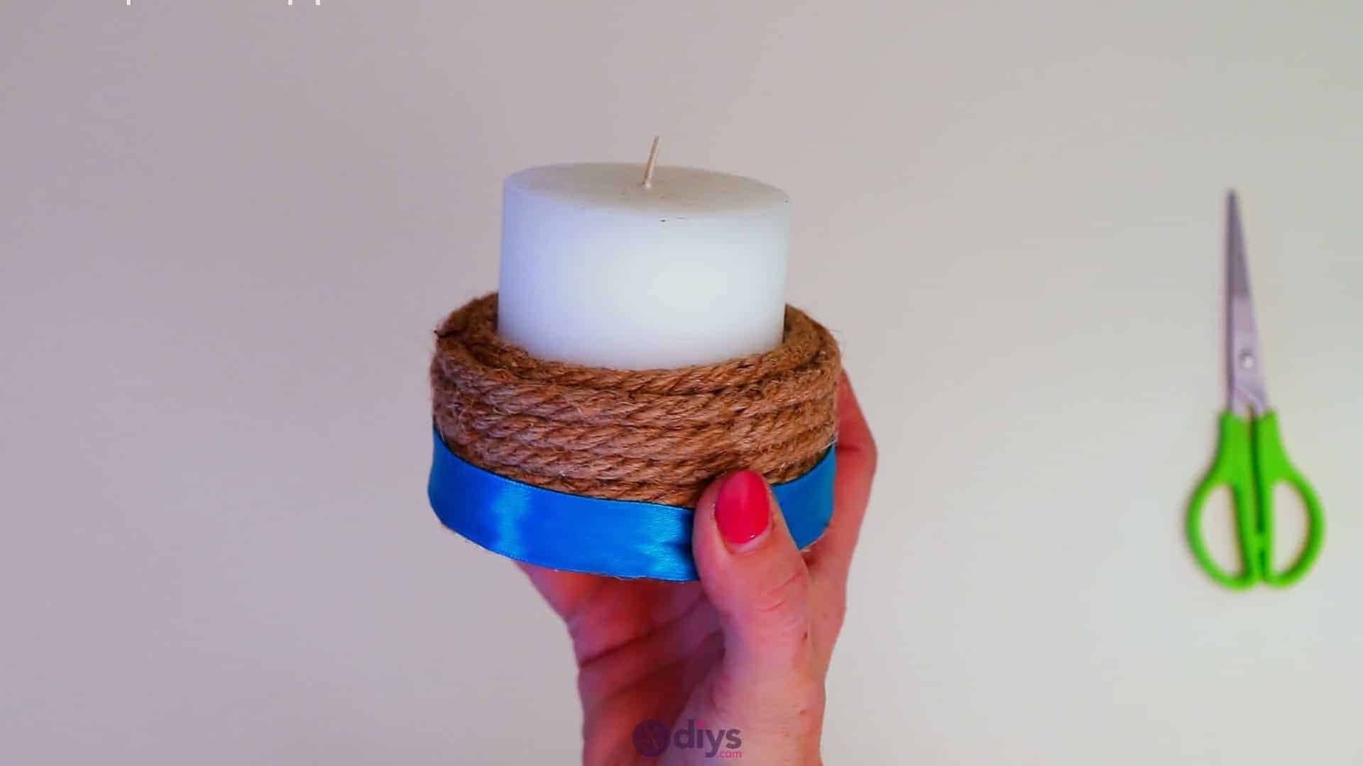 Rope wrapped candle holder step 5b