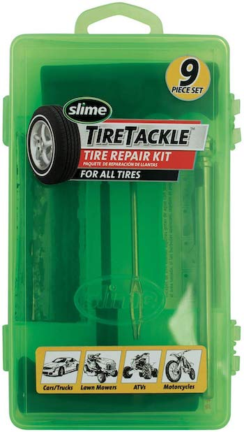 Slime 9 piece tire repair tackle kit