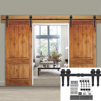 Smartxchoices 12ft double sliding barn door kit