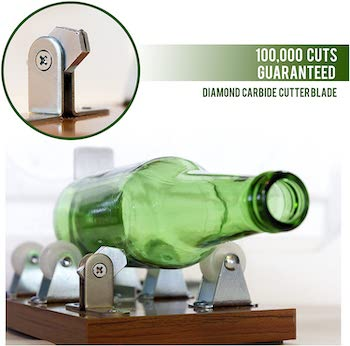 Soft touch glass bottle cutter