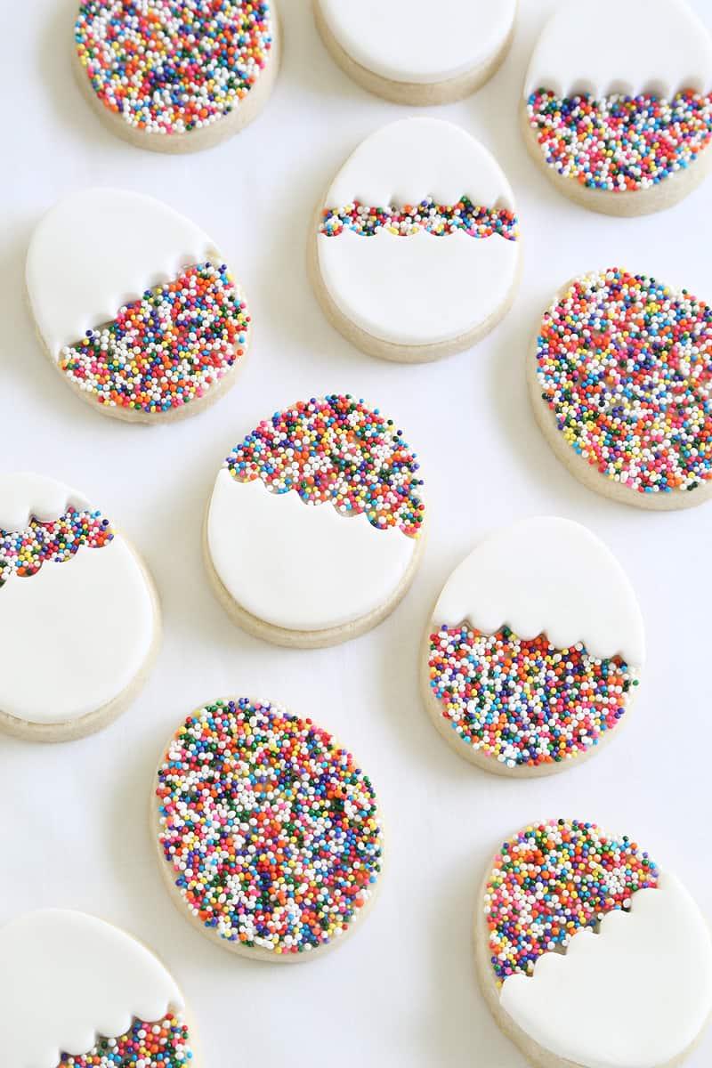 Sprinkle easter egg cookies
