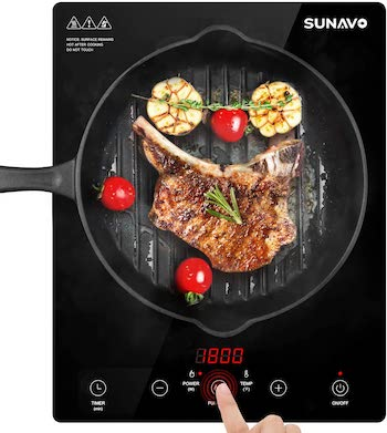 Sunavo sensor touch portable induction cooktop with child safety lock